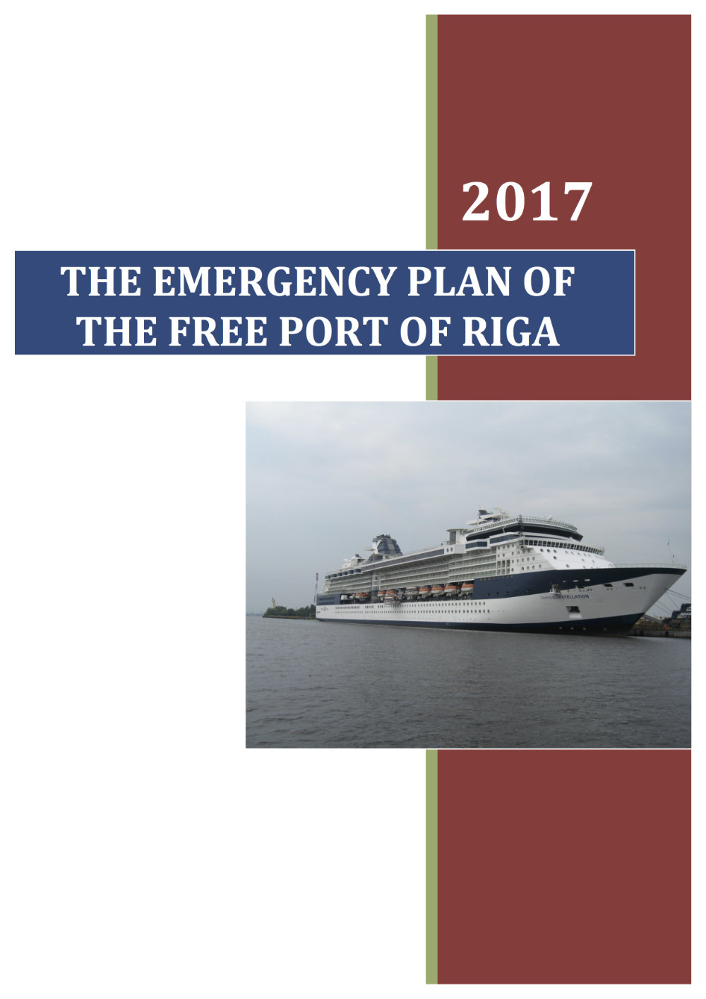 The Emergency plan document front page